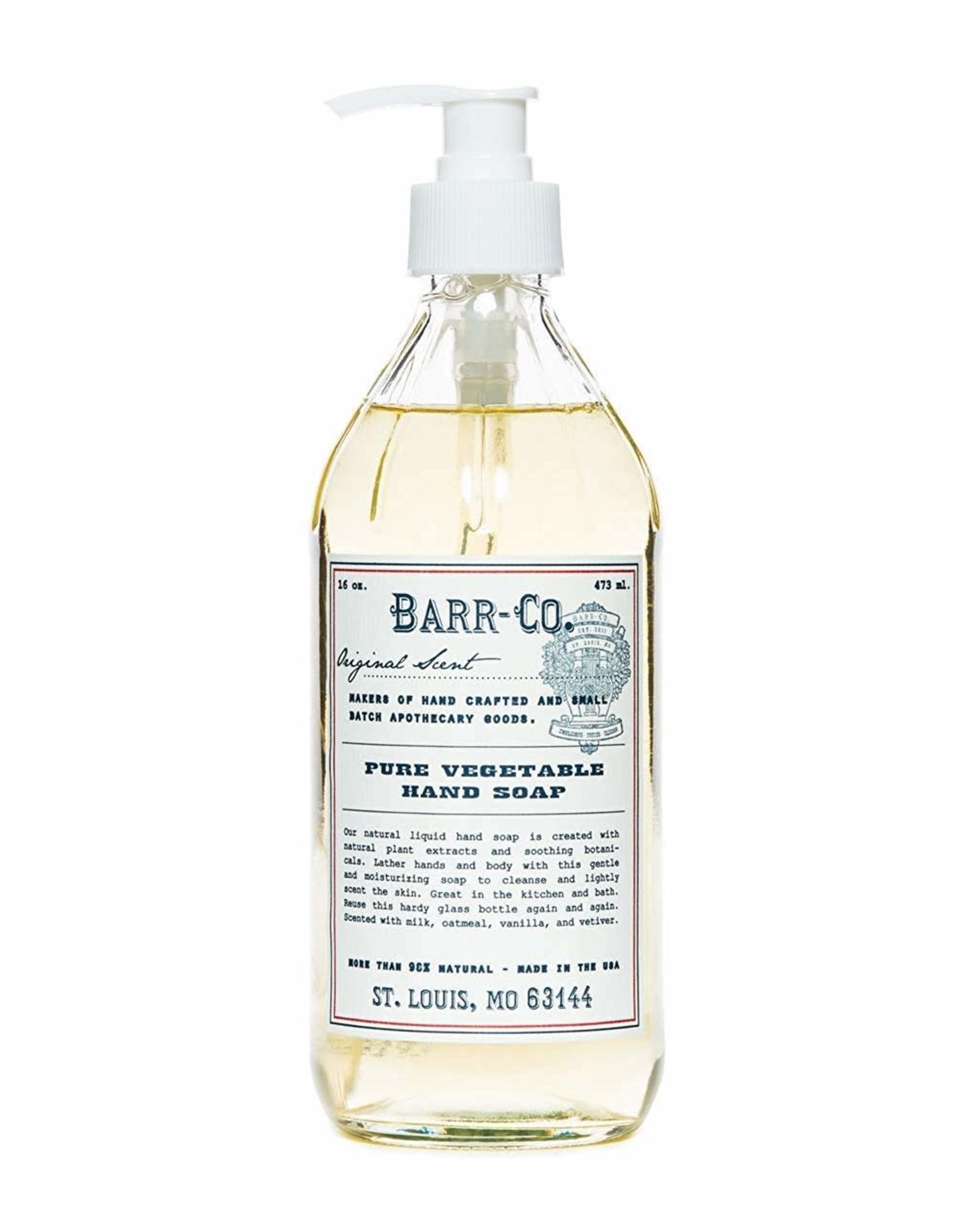 BARR CO SOAP ORIGINAL SCENT GLASS JAR LIQUID HAND SOAP