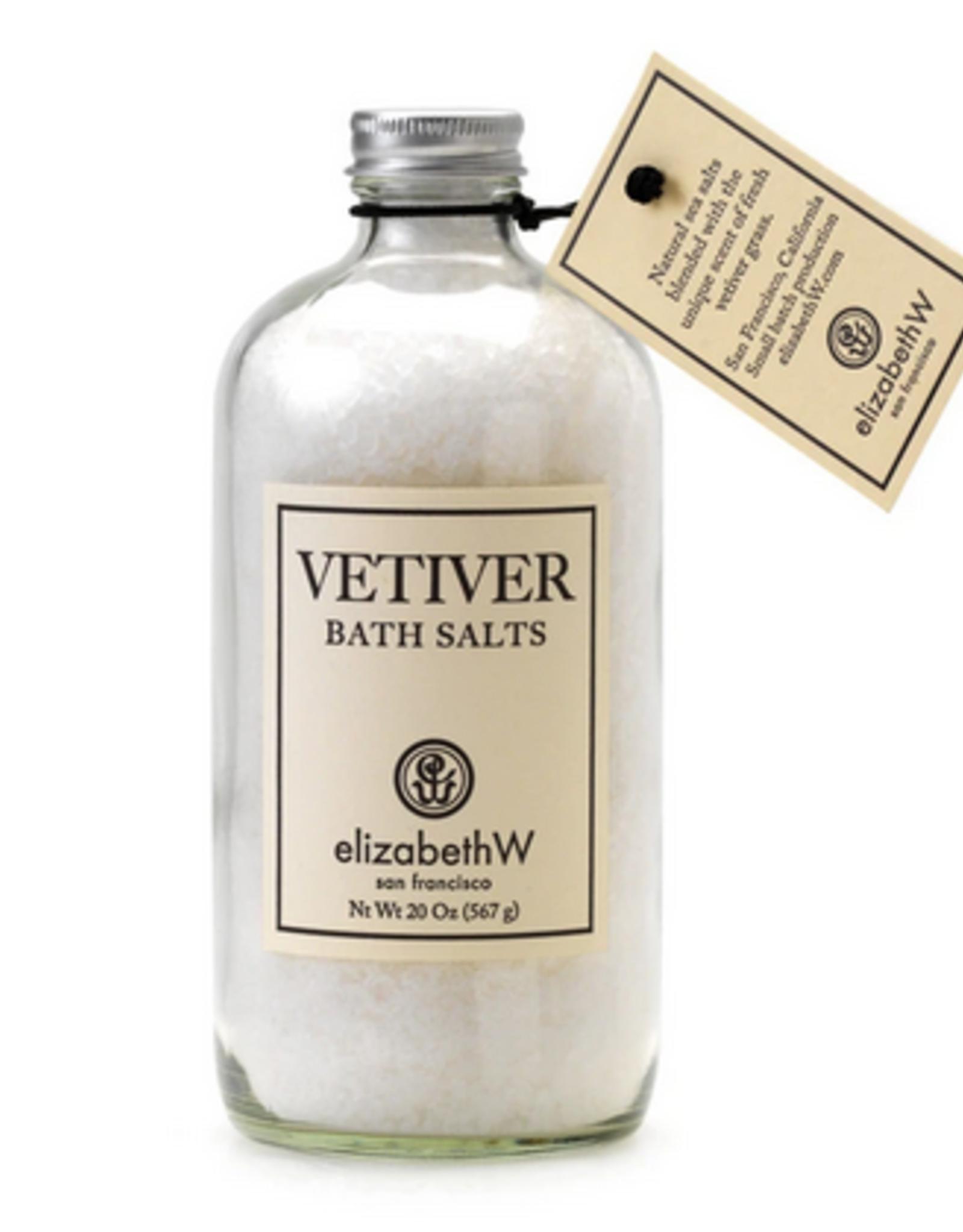 ELIZABETH W BATH SALTS IN GLASS BOTTLE 20 OZ VETIVER