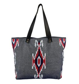 SAN DIEGO HAT BAG TOTE CHAMBRAY EMBROIDERED DENIM