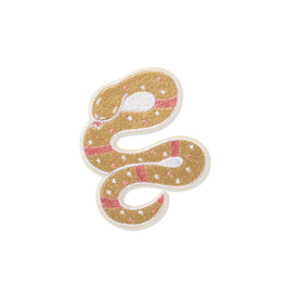 PATCH ADHESIVE PINK AND GOLD SNAKE