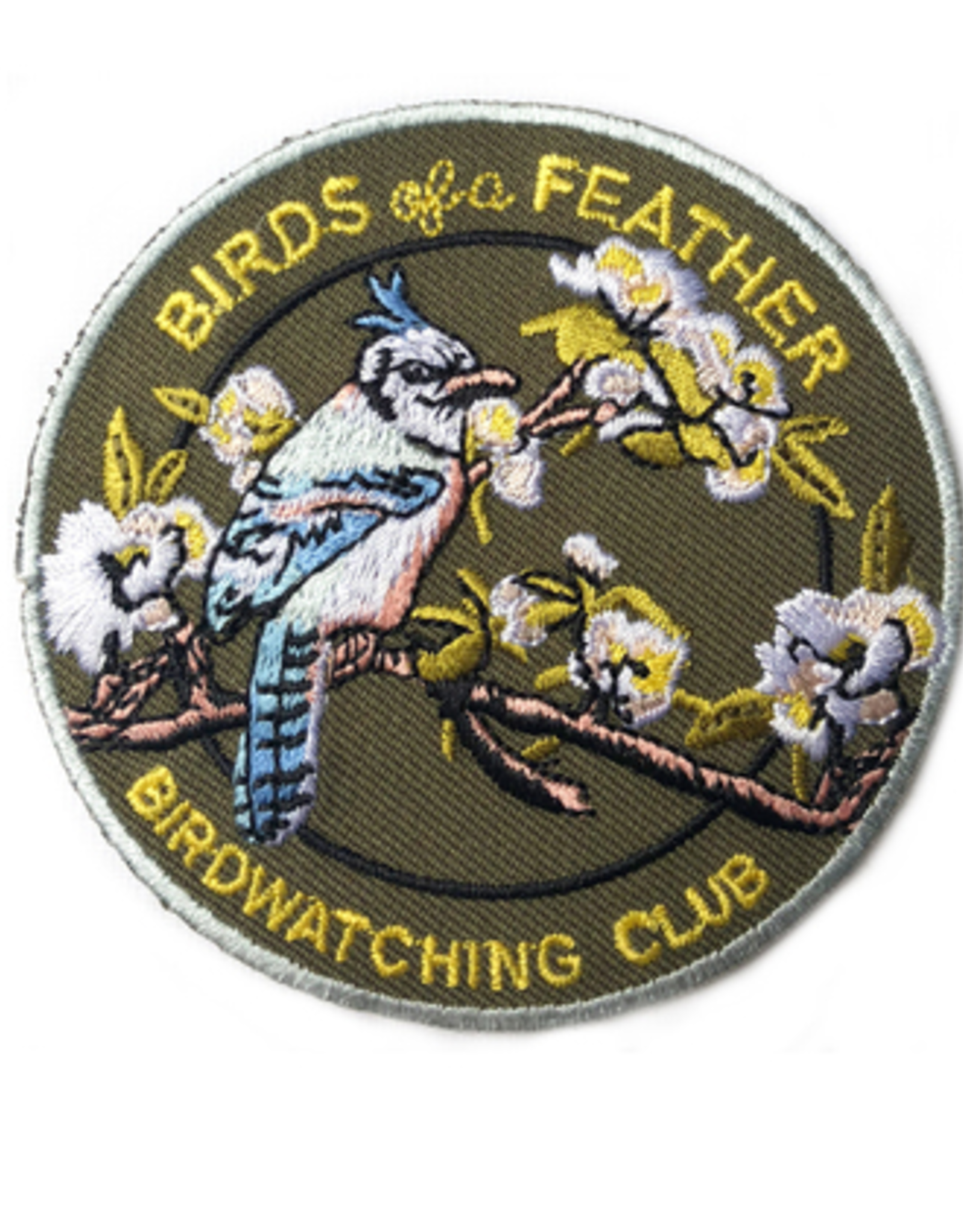PATCH IRON ON BIRDS OF A FEATHER BIRDWATCHING CLUB