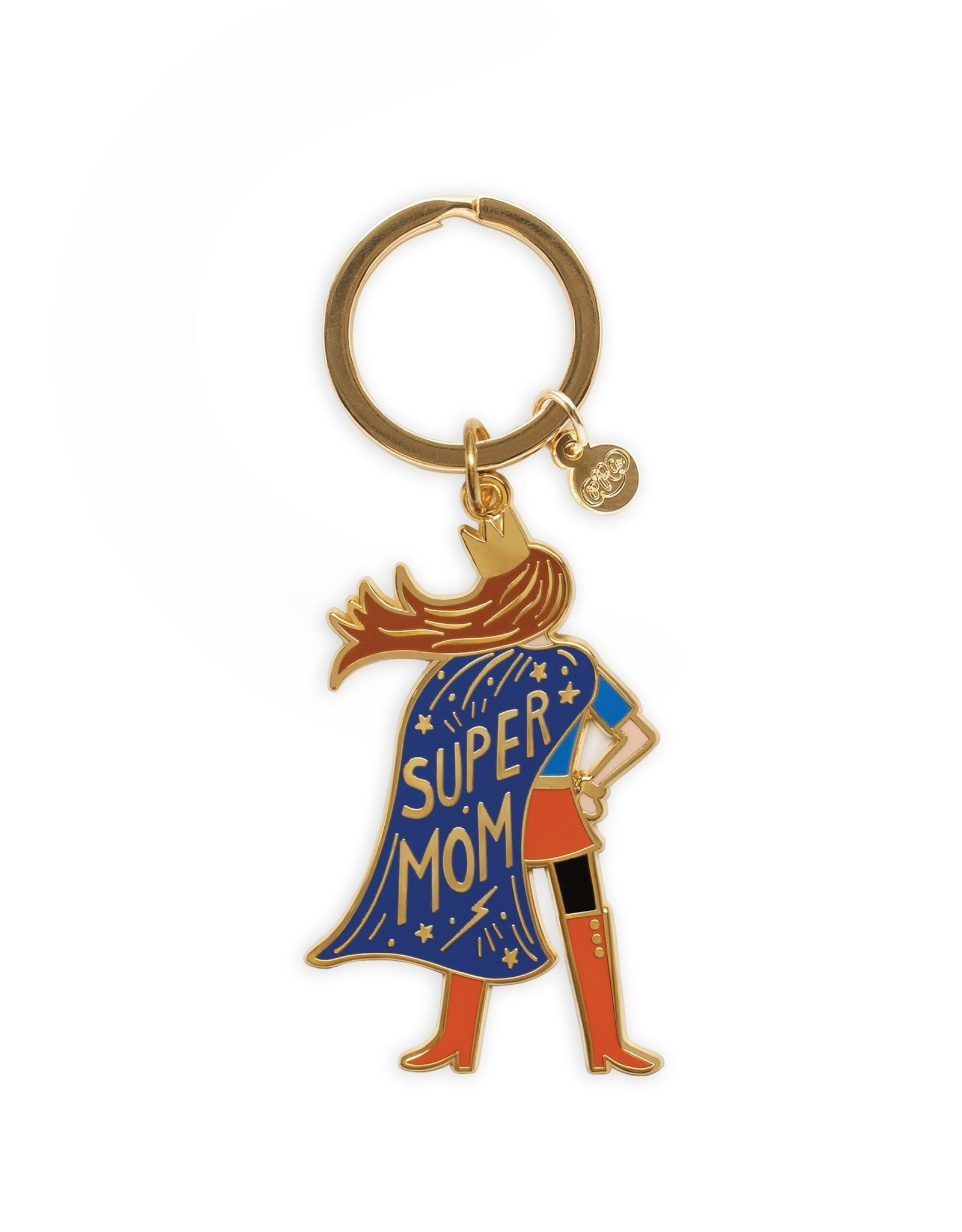 RIFLE PAPER COMPANY KEYCHAIN ENAMEL SUPER MOM