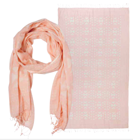 NOW DESIGNS SCARF PINK AND WHITE PATTERN