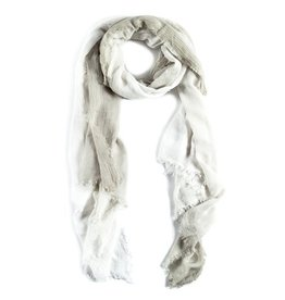 SCARF OMBRE WHITE SAGE