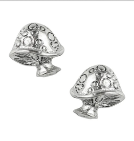 EARRING POST LARGE SPOTTED MUSHROOM STERLING SILVER