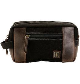 DAMNDOG BAG DOPP SHAVE KIT TAR BLACK