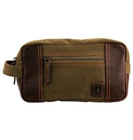 DAMNDOG BAG DOPP SHAVE KIT SWAMP BROWN GREEN