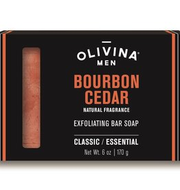 OLIVINA SOAP BAR 6 OZ BOURBON CEDAR