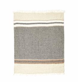 BLANKET THROW TOWEL FOUTA BEESWAX STRIPE 43 X 71
