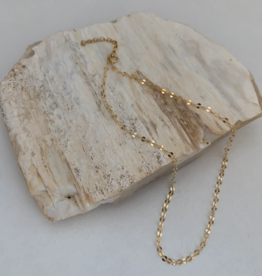 """NECKLACE SEQUIN CHAIN GOLD 18"""""""