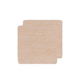 DISHCLOTH KNIT 8X8 HEIRLOOM NECTAR PINK