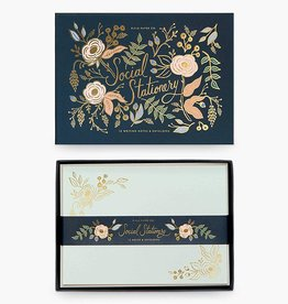 RIFLE PAPER COMPANY NOTECARDS BOXED COLETTE SOCIAL STATIONARY SET OF 12