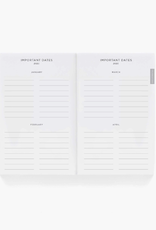 RIFLE PAPER COMPANY 12-MONTH POCKET PLANNER DOVECOTE 2022