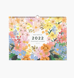 RIFLE PAPER COMPANY 12-MONTH APPOINTMENT CALENDAR MARGUERITE 2022
