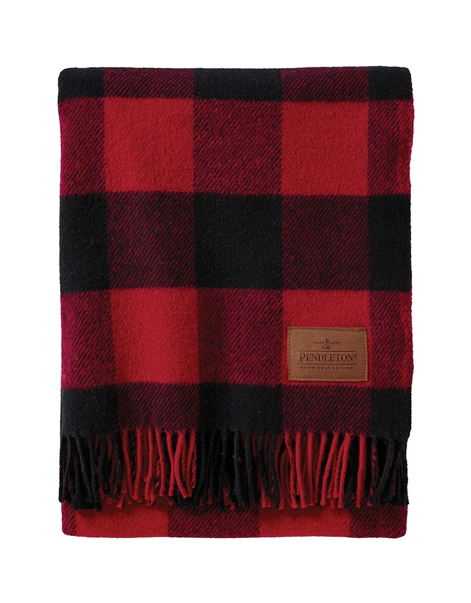 PENDLETON BLANKET MOTOR ROBE WITH LEATHER CARRIER ROB ROY