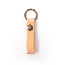 KEYCHAIN LEATHER KEY LOOP NATURAL