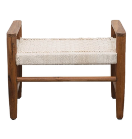 BENCH TEAK WOOD AND COTTON ROPE