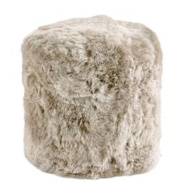 FIBRE POUF ICELANDIC SHEEPSKIN GREY