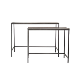 TABLE BLACK WOOD AND METAL LARGE