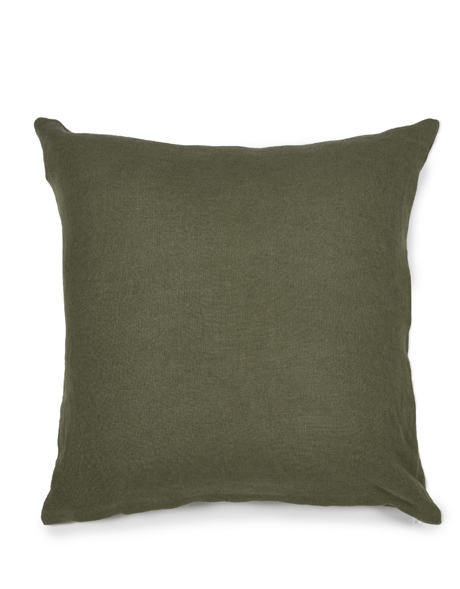LIBECO LAGAE PILLOW HUDSON FOREST GREEN 25X25