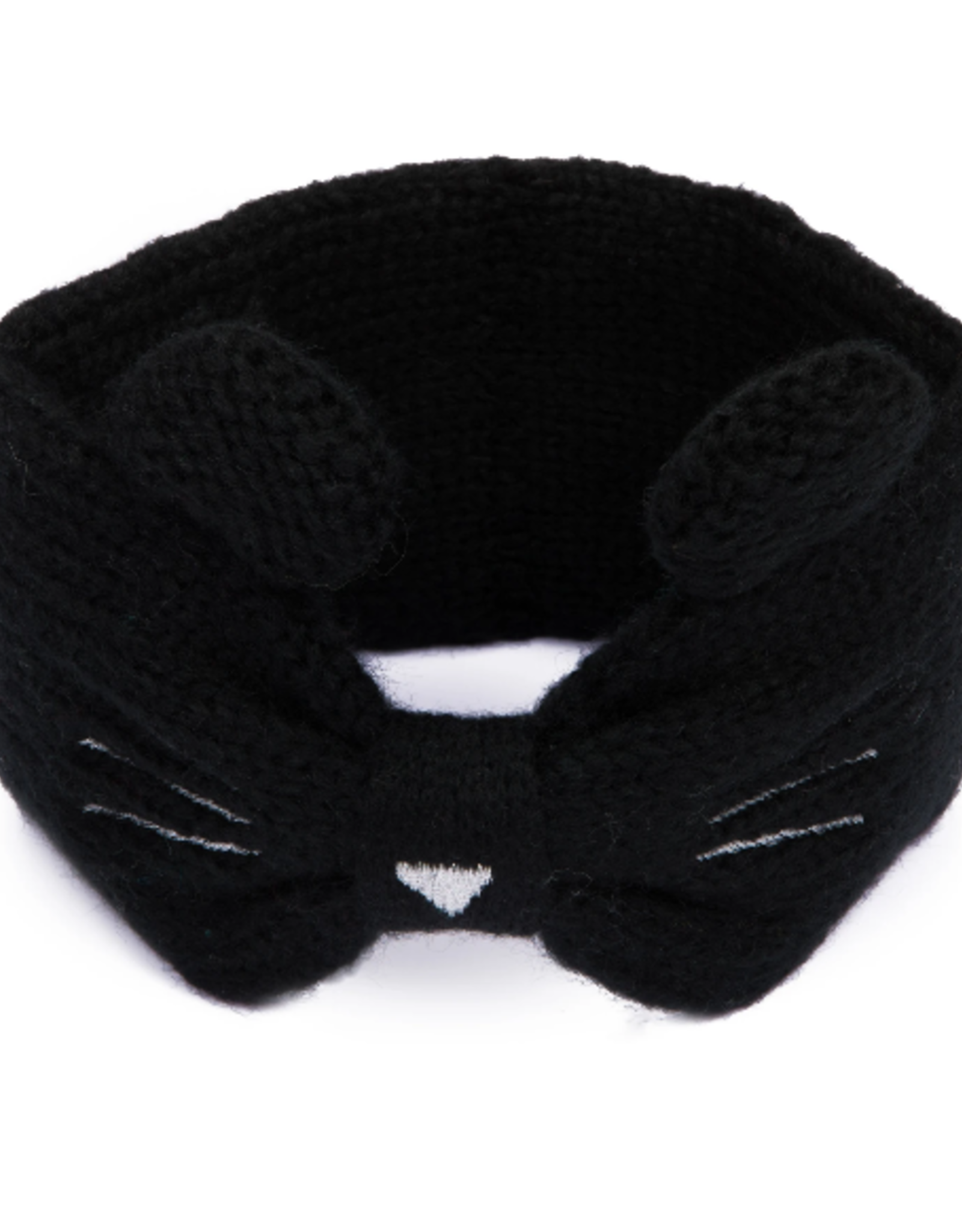 HEADBAND BLACK KNIT ACRYLIC CAT EARS (SUITABLE FOR CHILDREN 5-7 YEARS)