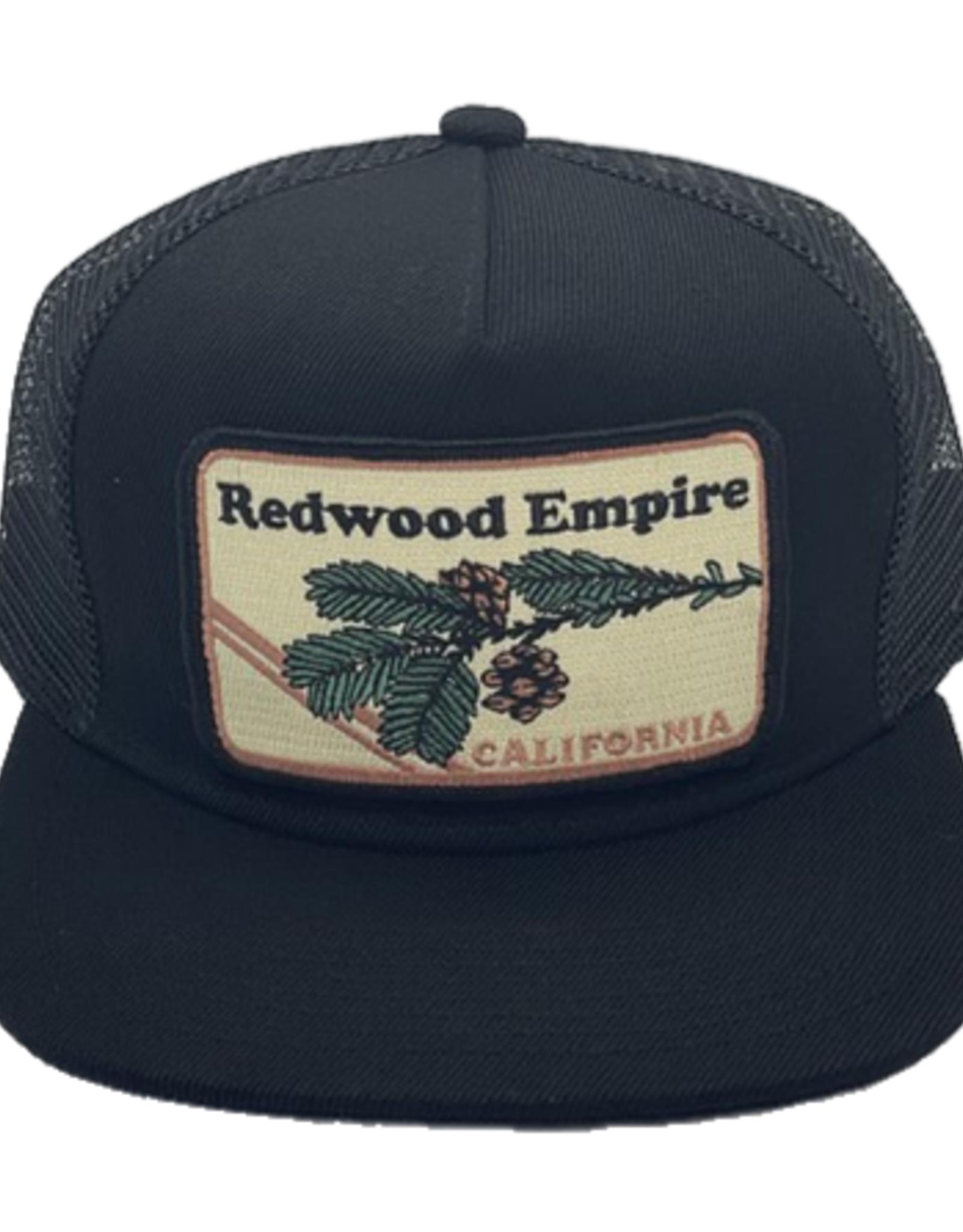 BART BRIDGE TRUCKER HAT WITH SECRET POCKET REDWOOD EMPIRE BRANCH BLACK
