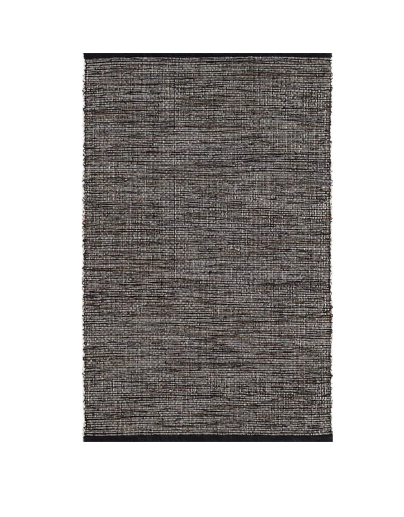 RUG GRANT BLACK AND BROWN WOVEN COTTON 2X3'