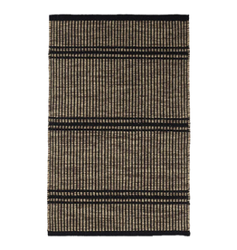 RUG MALTA CAMEL BEIGE WOVEN WOOL STRIPES AND BANDS 2X3'