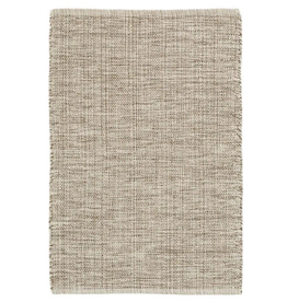 RUG WOVEN COTTON MARLED BROWN 5 X 8