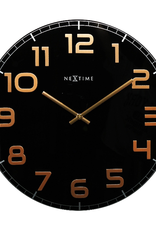 UNEK GOODS WALL CLOCK CLASSY BLACK AND COPPER LARGE