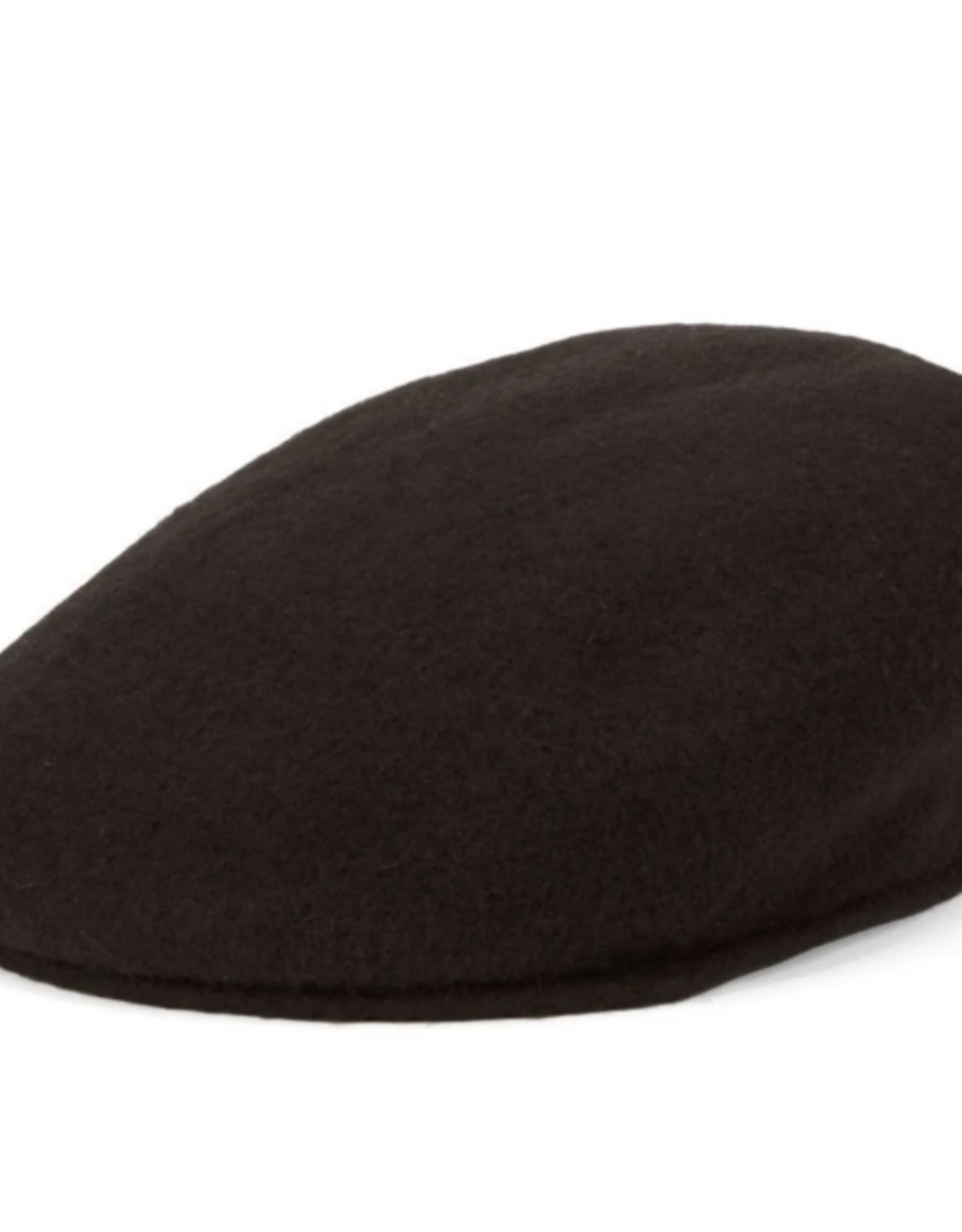 DRIVERS HAT BROWN BOILED WOOL WITH ELASTIC BAND