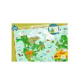 DJECO PUZZLE AROUND THE WORLD 200 PIECES