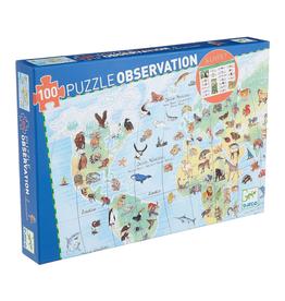 DJECO PUZZLE ANIMALS OF THE WORLD 100 PIECES