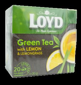 Loyd Green Tea with Lemon and Lemongrass 20X1.5g