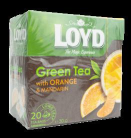 Loyd Green Tea with Orange and Mandarin 20X2g