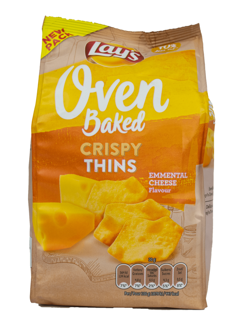 Lays Lays Oven Baked Crispy Thins - Emmental Cheese 90g