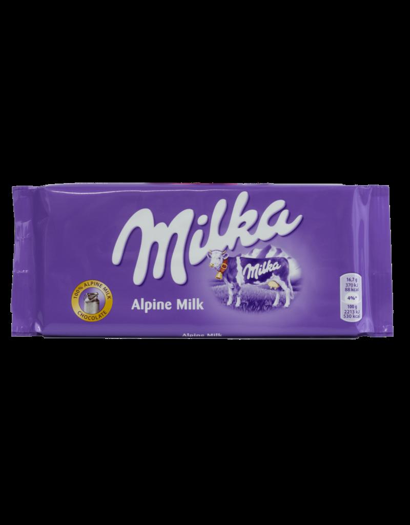 Milka Milka Alpine Milk Chocolate Bar 100g