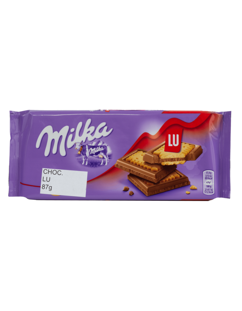 Milka Milka Lu Cookie Chocolate Bar 87g