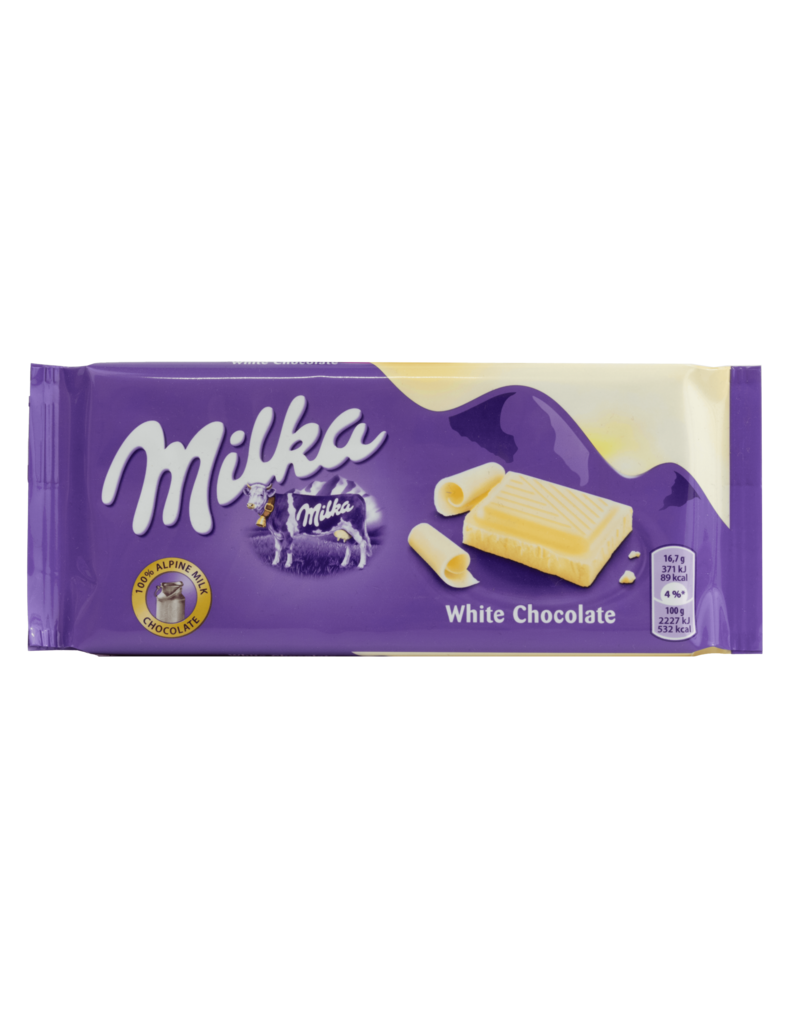Milka Milka White Chocolate Bar 100g