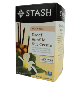 Stash Vanilla Nut Creme Decaf Tea 33g
