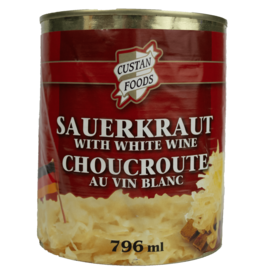 Custan Foods Sauerkraut with White Wine 796ml