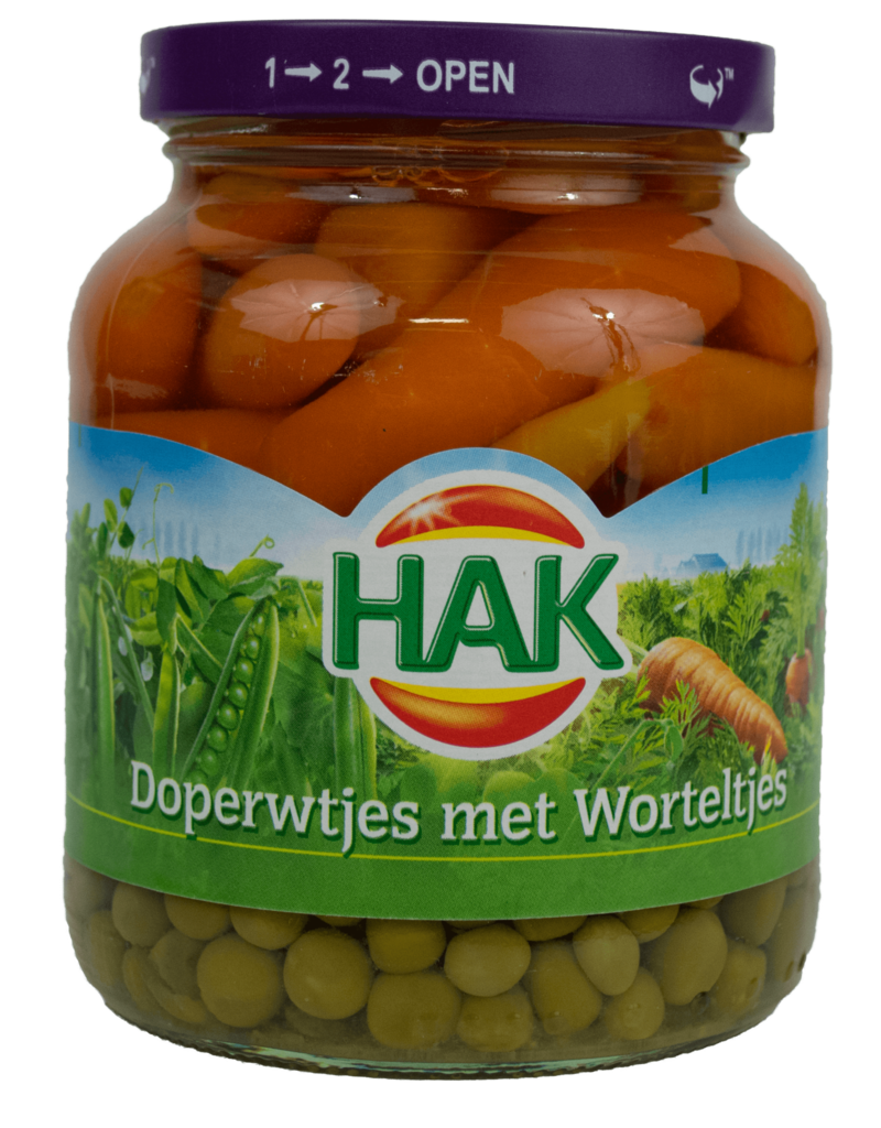 Hak Hak Peas and Carrots 370ml
