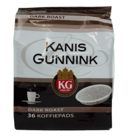 Kanis Gunnink Dark Roast Coffee Pods 36 Pack 250g