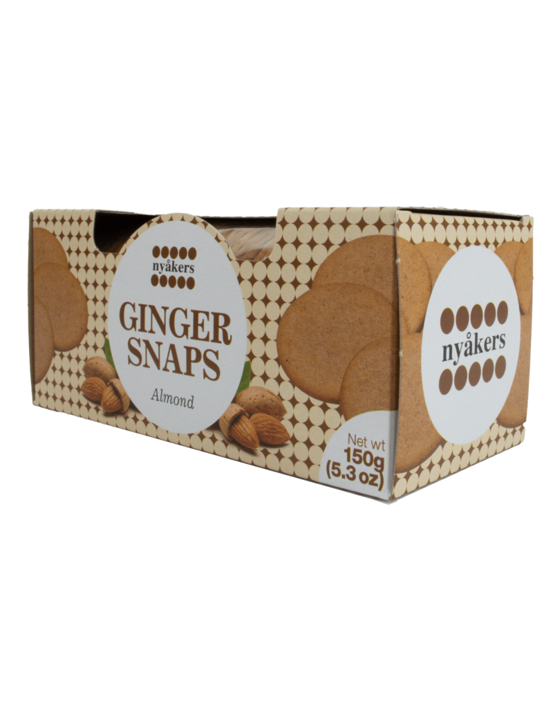 Nyakers Nyakers Ginger Snaps Almond 150g