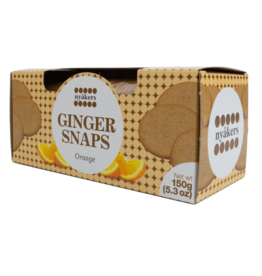 Nyakers Ginger Snaps Orange 150g