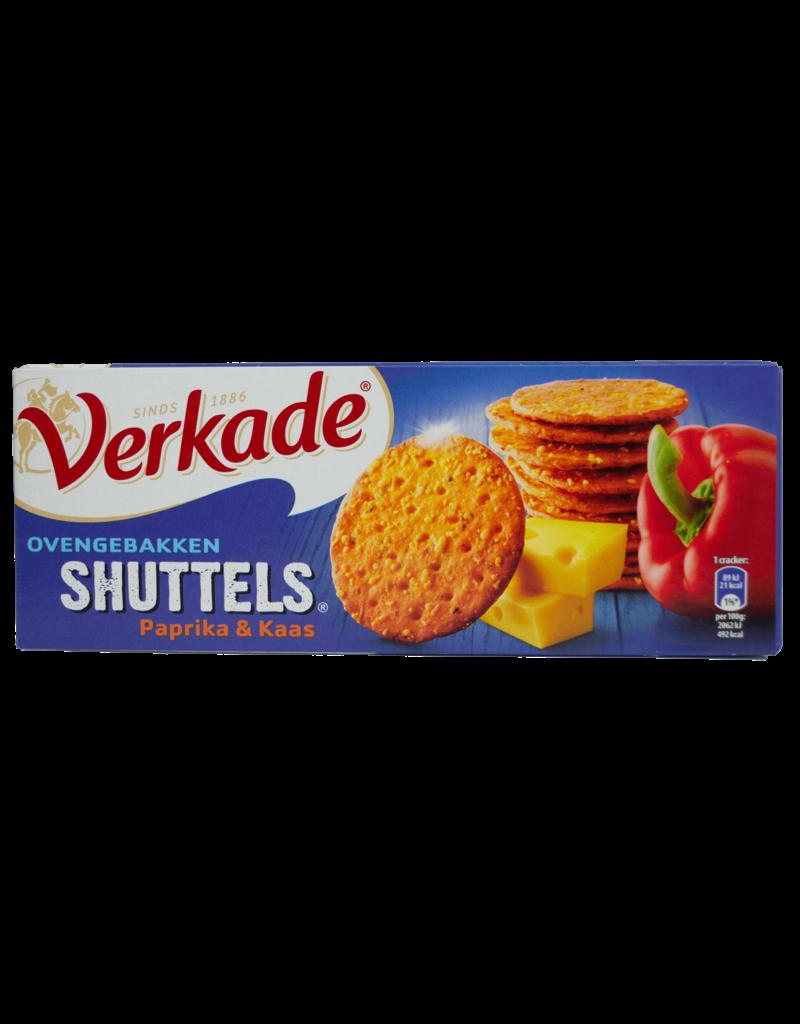 Verkade Verkade Shuttels Paprika & Cheese Crackers 150g