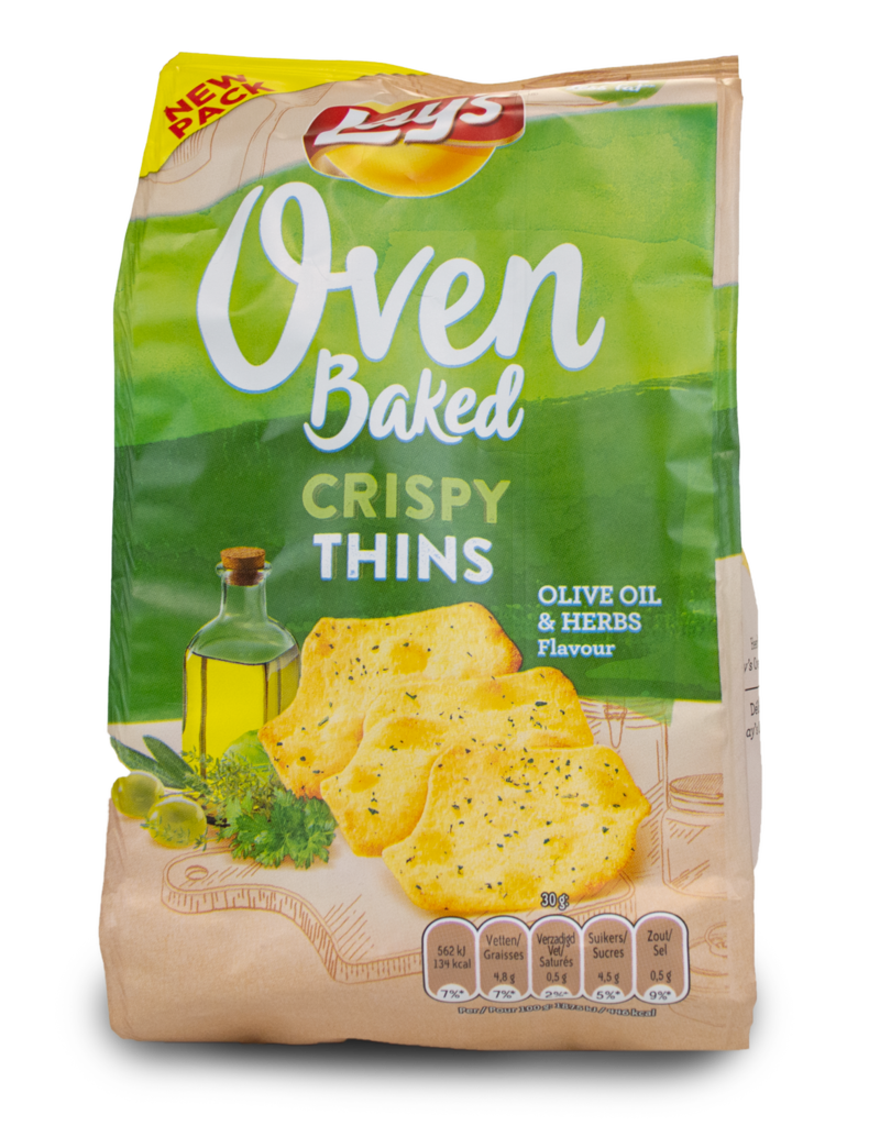 Lays Lays Crispy Thins - Olive Oil and Herb 90g