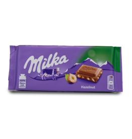 Milka Whole Hazelnut Choc.Bar 100g