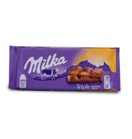 Milka Triple Caramel Chocolate Bar 87g
