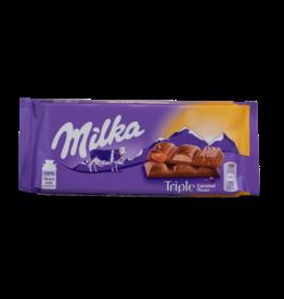 Milka Triple Caramel Chocolate Bar 87g